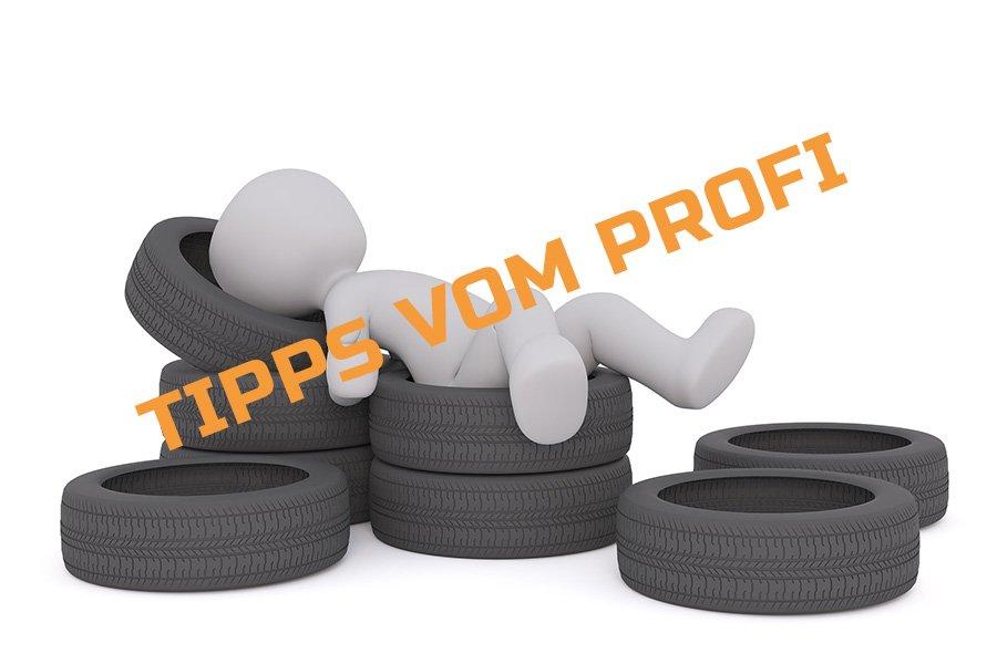 Profiltiefe der Reifen